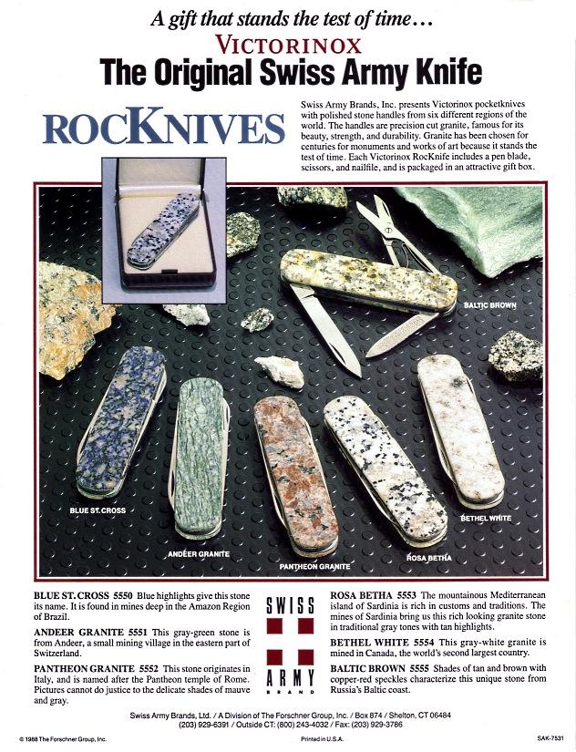 Sakwiki Victorinox Rocknives
