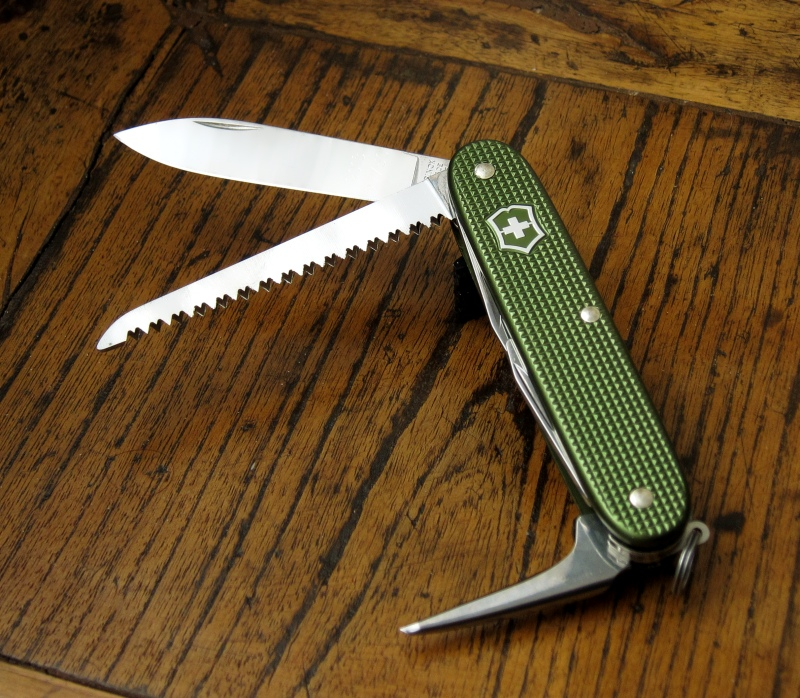 Victorinox Farmer, Olive green from 2013 special run, numbered and dated.