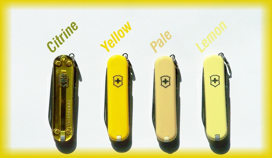 4/2014 Updated Picture of Yellow colors