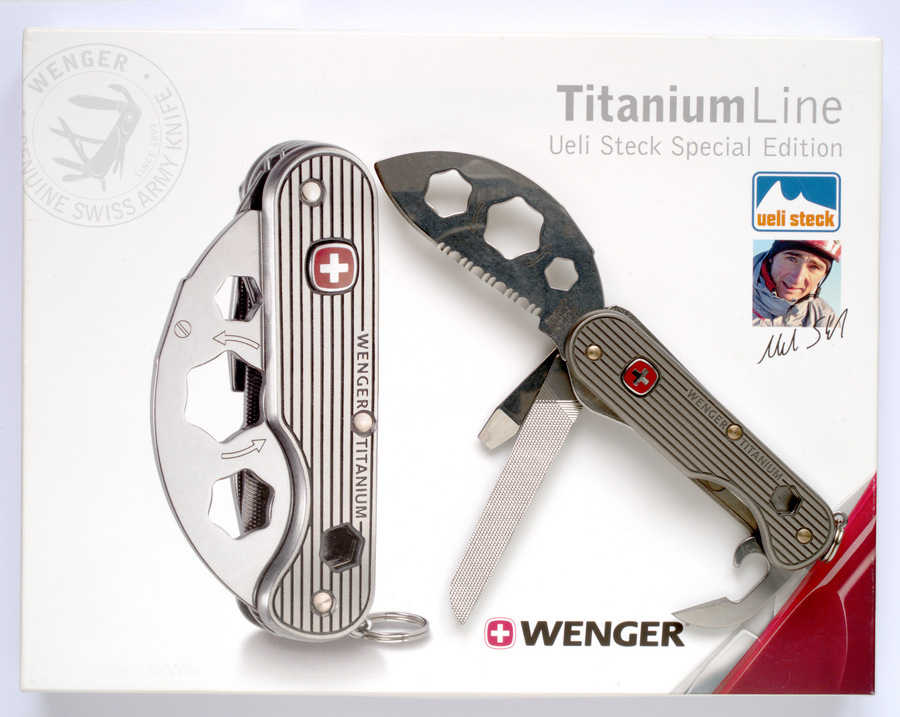 Wenger Titanium Line Ueli Steck Special Edition 1.92.40 with a box.