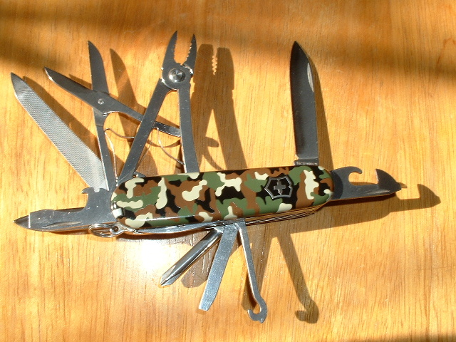 Victorinox TroubleShooter model with Camouflage scales.