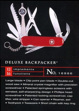 Wenger Backpacker model 16986