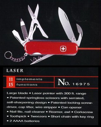 Wenger Laser knife model 16975