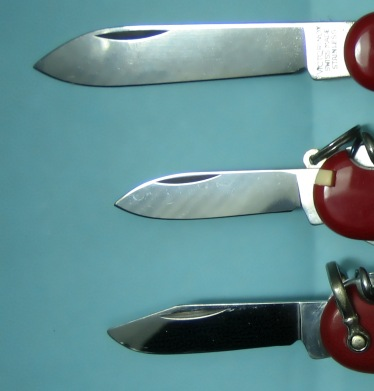 84mm Knife Blades, Large, Small, Small Clip Point