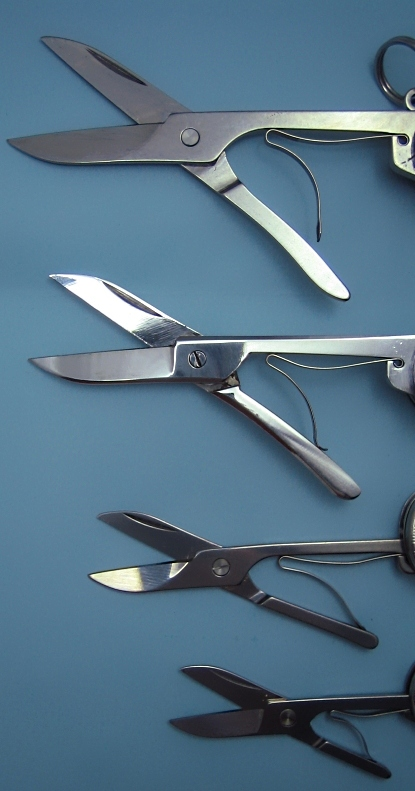 Scissors from 91mm, 84mm, 74mm, and 58mm.